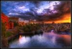 """HDR"" ""Sunset"" ""Spokane Sunset"" ""Downtown Spokane"" ""Spokane Photography"""